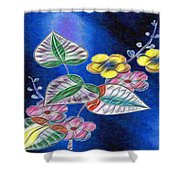 Floral Art Illustrated Shower Curtain