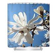 Floral Art Print Landscape Magnolia Tree Flowers White Baslee Troutman Shower Curtain