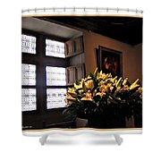 Floral At Chenonceau Shower Curtain