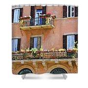 Floral Balcony Shower Curtain