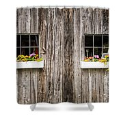 Floral Barn Planters Shower Curtain
