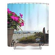 Floral Beach Shower Curtain