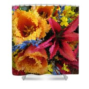 Floral Blast Shower Curtain