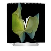 Floral Butterfly Shower Curtain