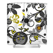 Floral Collision Shower Curtain