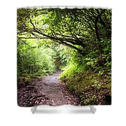 Floral Confetti On The Trail Shower Curtain