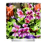 Floral Design 5 Light Shower Curtain