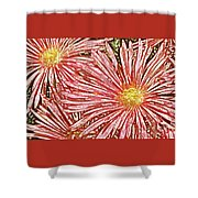 Floral Design No 1 Shower Curtain by Ben and Raisa Gertsberg