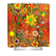 Floral Fantasy 122110 Shower Curtain
