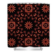 Floral Fire Tapestry Shower Curtain
