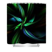 Floral Fractal 040710 Shower Curtain