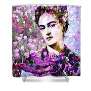 Floral Frida Vi Shower Curtain