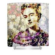 Floral Frida Vii Shower Curtain