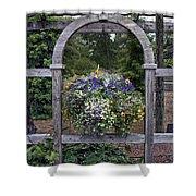Floral Garden View Shower Curtain
