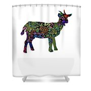 Floral Goat Shower Curtain