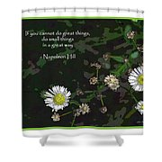 Floral Great Way Quote Shower Curtain