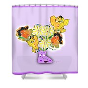 Floral Happiness Shower Curtain