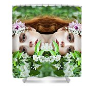 Floral Haze  Shower Curtain