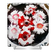 Floral Hotty Totty Shower Curtain