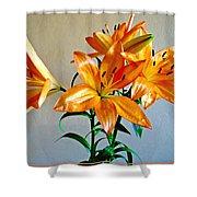 Floral Impression Shower Curtain