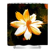 Floral In Yellow Shower Curtain