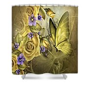 Yellow Floral Shower Curtain
