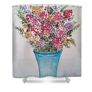 Floral Inked Shower Curtain