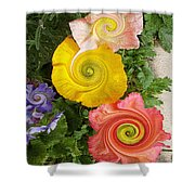 Floral Kaleidoscope Shower Curtain