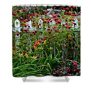 Floral Landscape Shower Curtain