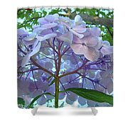 Floral Landscape Blue Hydrangea Flowers Baslee Troutman Shower Curtain