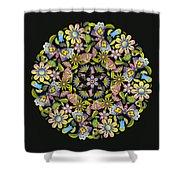 Floral Mandala Pattern Shower Curtain