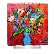 Floral Miniature - Abstract 0115 Shower Curtain