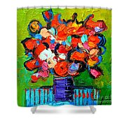Floral Miniature - Abstract 0315 Shower Curtain