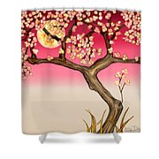 Floral Moon Shower Curtain