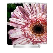 Floral Pink Creative Fragmented In Thick Paint Shower Curtain