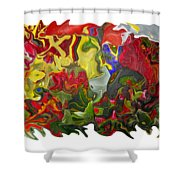 Floral Reef Shower Curtain