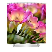 Floral She Sparkles Shower Curtain