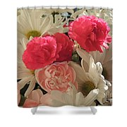 Floral Smiles Shower Curtain