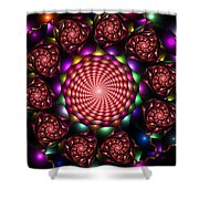 Floral Spiral Shower Curtain