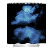 Floral Spring Tulips 2017 Blue Vertical Shower Curtain