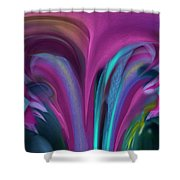 Floral Stalagtites Shower Curtain