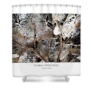 Floral Structure Shower Curtain
