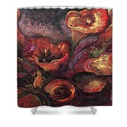 Floral Sun Worship Shower Curtain
