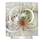 Floral Swirls Shower Curtain
