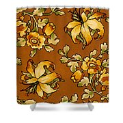 Floral Textile Design Shower Curtain