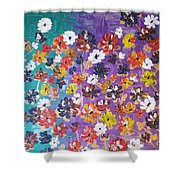 Floral Theme Shower Curtain