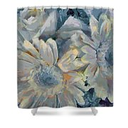 Floral Vegged Out Wow Shower Curtain