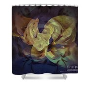 Floral Vortex Shower Curtain