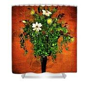 Floral Wall Arrangement Shower Curtain