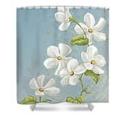 Floral Whorl Shower Curtain